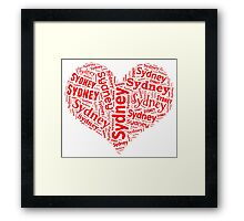Sydney - Red Heart Framed Print