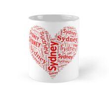 Sydney - Red Heart Mug