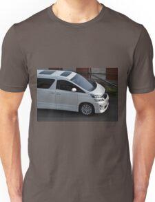 white colored toyota vellfire Unisex T-Shirt
