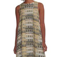 Windows pattern in Baixa Coimbra Portugal A-Line Dress