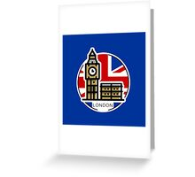 Around the world - London Greeting Card