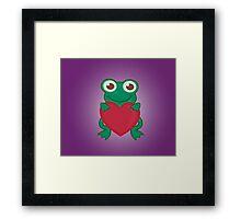 Love Frogs Framed Print
