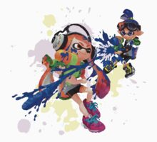 Splatoon - Low Poly One Piece - Short Sleeve