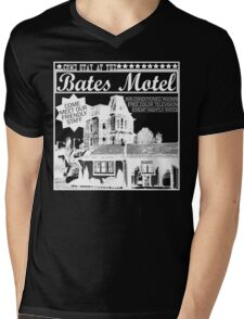 Bates Motel - White Type Mens V-Neck T-Shirt