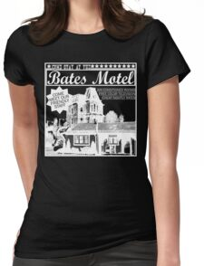 Bates Motel - White Type Womens Fitted T-Shirt