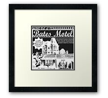 Bates Motel - White Type Framed Print