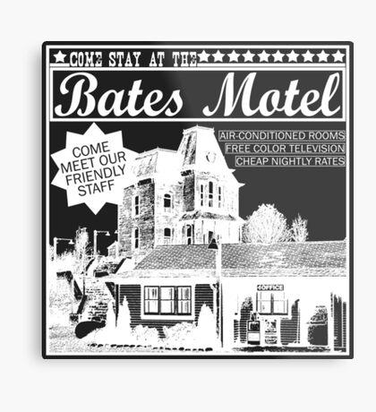 Bates Motel - White Type Metal Print