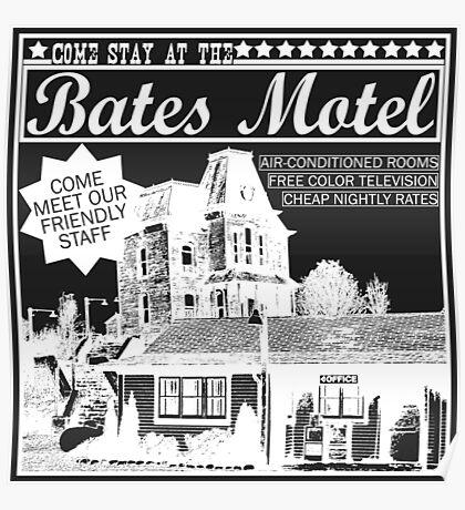 Bates Motel - White Type Poster