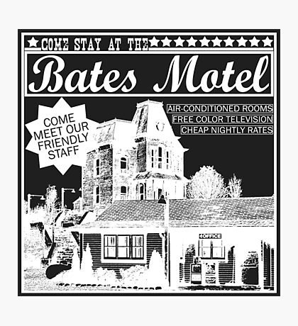 Bates Motel - White Type Photographic Print