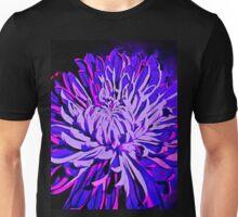 Flower Autumn and Winter Bloom in Purple Unisex T-Shirt
