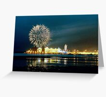 QM2 - Queen Mary 2 Maiden Voyage Southampton England UK Greeting Card