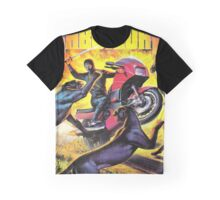 Motorcycle ninja vs Panthers Graphic T-Shirt