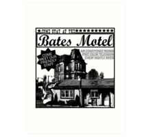 Bates Motel - Black Type Art Print