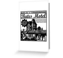 Bates Motel - Black Type Greeting Card