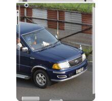 blue colored toyota kijang EFI iPad Case/Skin