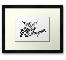 Gipsy Danger Chrome Logo Framed Print