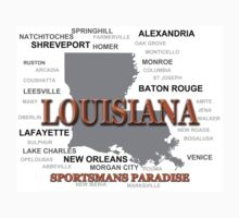 Louisiana State Pride Map Silhouette  Kids Tee