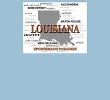 Louisiana State Pride Map Silhouette  Unisex T-Shirt