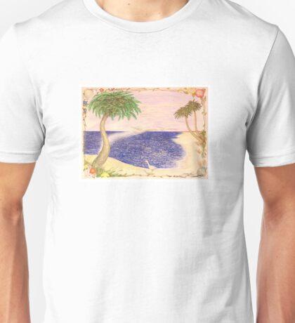 Beach Flower Palms Unisex T-Shirt