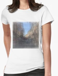 Rue St. Paul E Montreal streetscape Womens Fitted T-Shirt