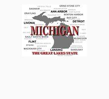 Michigan State Pride Map Silhouette  Unisex T-Shirt