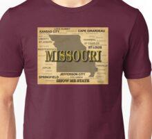 Missouri State Pride Map Silhouette  Unisex T-Shirt