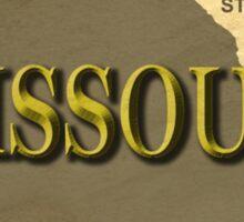 Missouri State Pride Map Silhouette  Sticker