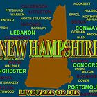 New Hampshire State Pride Map Silhouette  by KWJphotoart