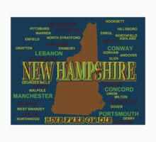 New Hampshire State Pride Map Silhouette  Kids Clothes