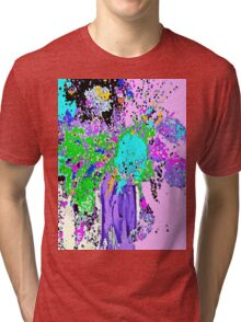 Flower Spring Floral Abstract Tri-blend T-Shirt
