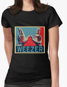 weezer posters live concert 2016 tour date esteh Womens Fitted T-Shirt