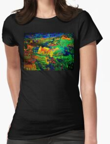 Rob Gamble and Glenn Prior's Quest for Truth night time copy right 2011 Womens Fitted T-Shirt