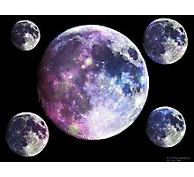 Galaxy Moons Photographic Print