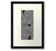 Kyle's Lines Framed Print