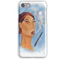 LadySmoking iPhone Case/Skin