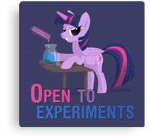 Open to experiments Canvas Print
