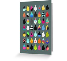 Colorful Rain Greeting Card