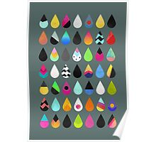 Colorful Rain Poster