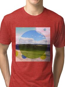 All About Italy. Tuscany Landscape 3 Tri-blend T-Shirt