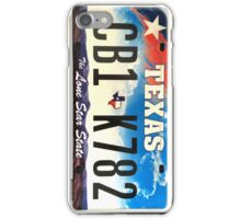 Texas lone star state licence Plate iPhone Case/Skin