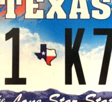 Texas lone star state licence Plate Sticker