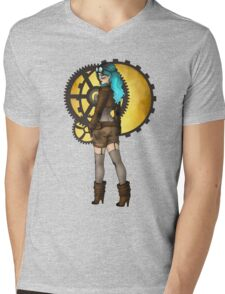 Steampunk Pinup Mens V-Neck T-Shirt