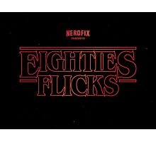 Eighties Flicks Photographic Print