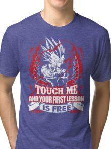 Super Saiyan Vegeta Lesson Shirt: Tri-blend T-Shirt