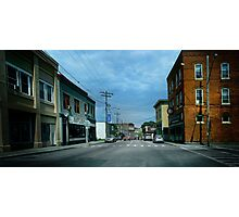 Driving Through a Small Town Photographic Print