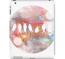 Technicolor Birds on Wire  iPad Case/Skin