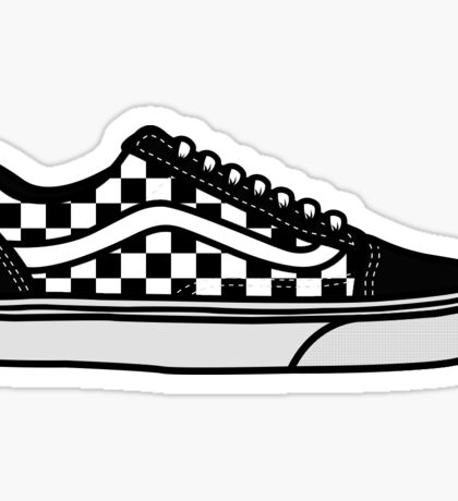 Shoes - old school 3 Sticker