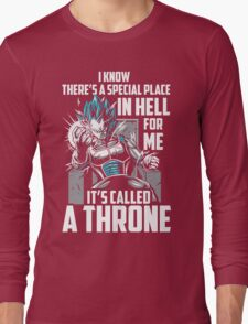 Super Saiyan Vegeta God Throne Shirt Long Sleeve T-Shirt