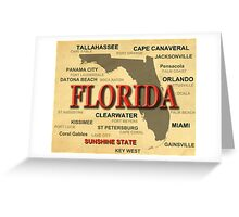 Florida State Pride Map Silhouette  Greeting Card