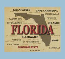 Florida State Pride Map Silhouette  Kids Tee
